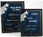 Blue/Black Acrylic Star Plaque