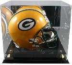 Football Helmet Display Case w/Mirror Back
