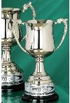 The Georgian style silver metal Loving Cup is timeless recognition with classic elegance. Presented on a black base with silvertone engraving plate with your personalized message. Available in 3 sizes.
